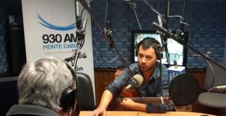 Lucas Sugo deleit� en los estudios de Radio Monte Carlo
