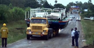 Quedó operativa la balsa sobre el arroyo Agua Sucia en Sarandí del Yí