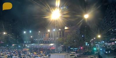 Taxistas cortaron nuevamente 18 de Julio en rechazo a Uber