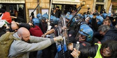 Violentas protestas de taxistas en Roma contra Uber