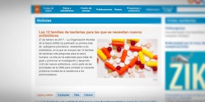 OMS exhorta desarrollar nuevos antibióticos para 12 bacterias peligrosas