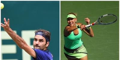 Federer y rusa Vesnina, los nuevos reyes en Indian Wells