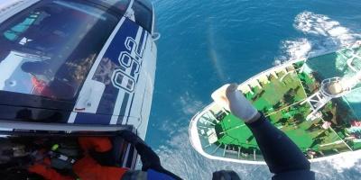 Un pescador herido fue rescatado por la Fuerza Aérea en Punta del Este