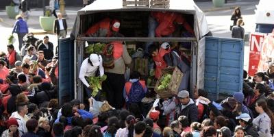 Regalaron 4 toneladas de verdura en Argentina