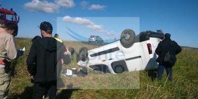 Investigan el vuelco de la camioneta de Nahitan Nández