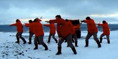 Viral la versión de Despacito en base antártica uruguaya