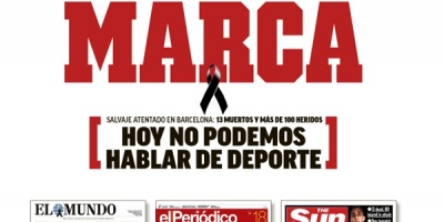 Prensa deportiva española elude hablar de deporte tras atentados de Barcelona