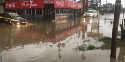 Canelones: más de 40 desplazados por intensas lluvias