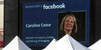 Facebook dio la bienvenida a Carolina Cosse en misión oficial
