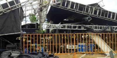PiriaMusic suspendido tras turbonada que destrozó escenario principal