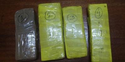 Incautan casi 4 kilos de marihuana en Rivera