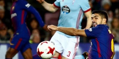 Barcelona aplasta al Celta; Luis Suárez anotó uno de los goles y llegó a los 400