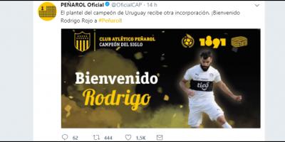 Peñarol oficializa contratación de Rojo