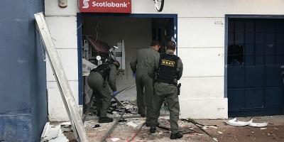 Explotaron con gas un cajero automático en la zona del Malvín Nuevo
