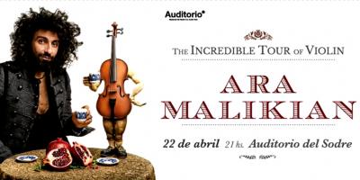Llega al Sodre el violinista libanés Ara Malikián