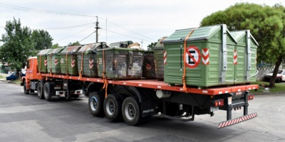 Intendencia finalizó instalación de contenedores nuevos