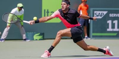 Del Potro-Isner y Ostapenko-Collins, semifinales en Miami