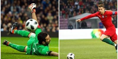 Buffon dice que admira ilimitadamente a Cristiano
