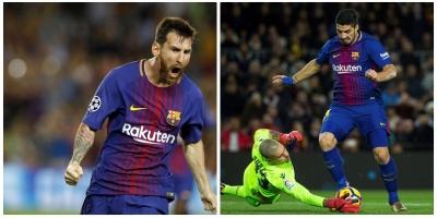 Suárez y Messi aprovechan el descanso de Cristiano