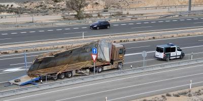 Un elefante muerto al volcar un camión de circo en España