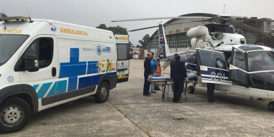 Fuerza Aérea realizó traslado de una persona con quemaduras graves desde Paysandú