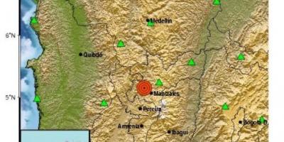Dos sismos de magnitud 6,2 y 5,4 sacuden el centro de Colombia