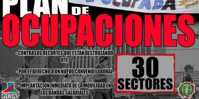Trabajadores de UTE iniciarán ocupaciones el jueves