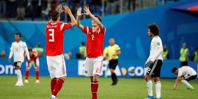Rusia derrotó 3 a 1 a Egipto y lidera el grupo A seguida de Uruguay