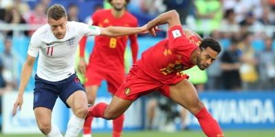 Bélgica derrotó a Inglaterra por 1 a 0 y se clasificó a octavos del Mundial