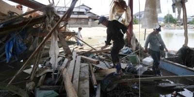 El número de muertos por las lluvias torrenciales en Japón asciende a 157