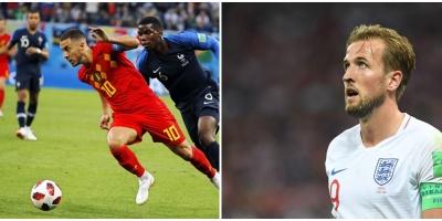 Bélgica derrota 2-0 a Inglaterra