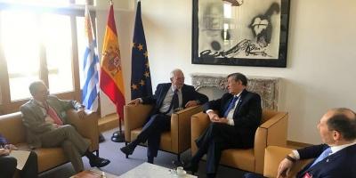 El canciller Rodolfo Nin Novoa se reunió con su par español Josep Borrell