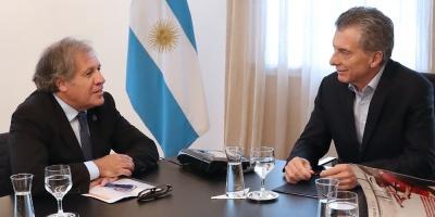 Macri y Almagro conversan en Buenos Aires de Venezuela y Nicaragua
