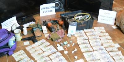 Tacuarembó: Incautan droga, dinero y objetos robados