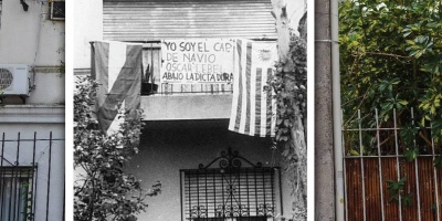 Vandalizaron placa instalada en honor al contralmirante Óscar Lebel