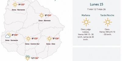 El tiempo hoy: Temperaturas en aumento y sin precipitaciones