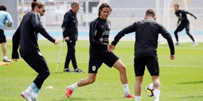 Uruguay entrenó por primera vez en Tokio