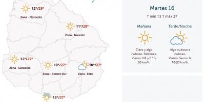 El tiempo hoy: Fresco a cálido