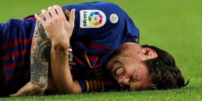 Messi se lesionó y se perderá el clásico español