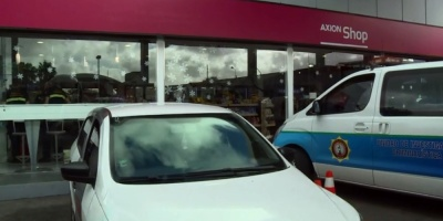Cuatro delincuentes intentaron explotar otro cajero automático