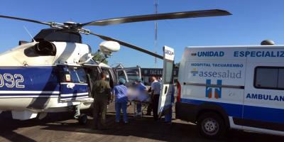Fuerza Aérea debió realizar un traslado de urgencia de un niño desde Tacuarembó