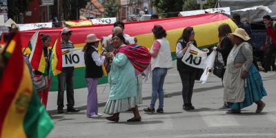 Morales califica de delictivos unos incidentes de los que culpa a opositores