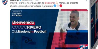 Octavio Rivero a Nacional