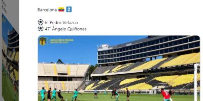 Peñarol cayó ante Barcelona de Ecuador 2-1