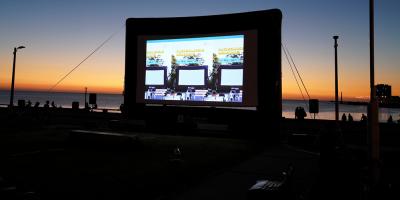 """Continúa el ciclo """"Cine en Chancletas"""" en distintos barrios de Montevideo"""