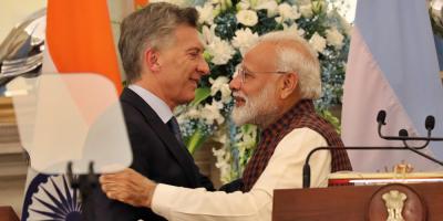 Argentina y la India firman diez acuerdos durante la visita de Macri