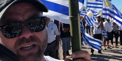 Un Solo Uruguay se movilizó durante Consejo de Ministros en rechazo al contrato entre el Gobierno y UPM