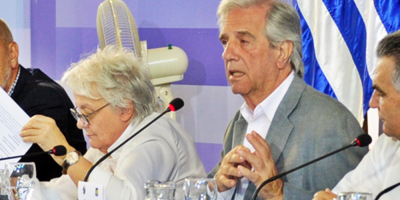 Vázquez repudió insultos contra Topolansky al finalizar el Consejo de Ministros