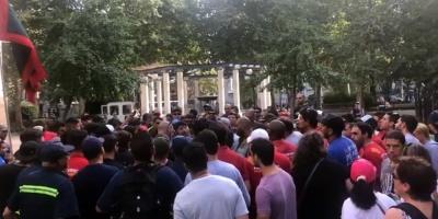 Trabajadores del gas realizaron concentración frente al Poder Judicial