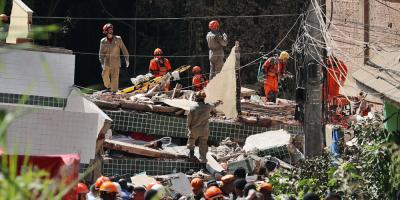 El derrumbe de dos edificios en Río de Janeiro deja ya al menos 10 muertos